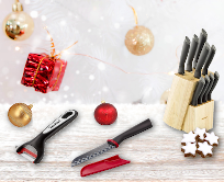 Christmas promotion - kitchen knives and cutting boards